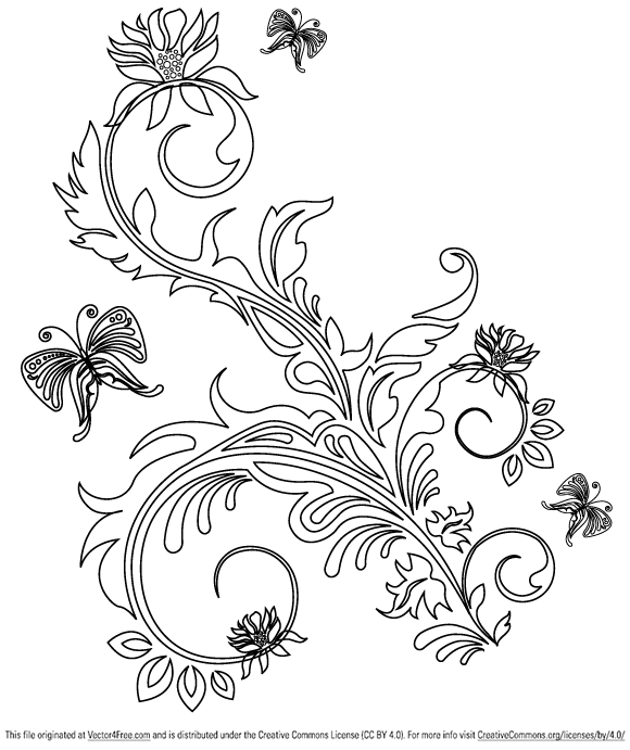 Great decorative floral ornaments vector files.