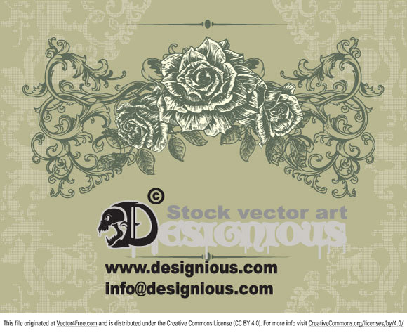 Download this amazing vector illustration now! It was created using vector elements from Designious Floral Vector Pack 75.