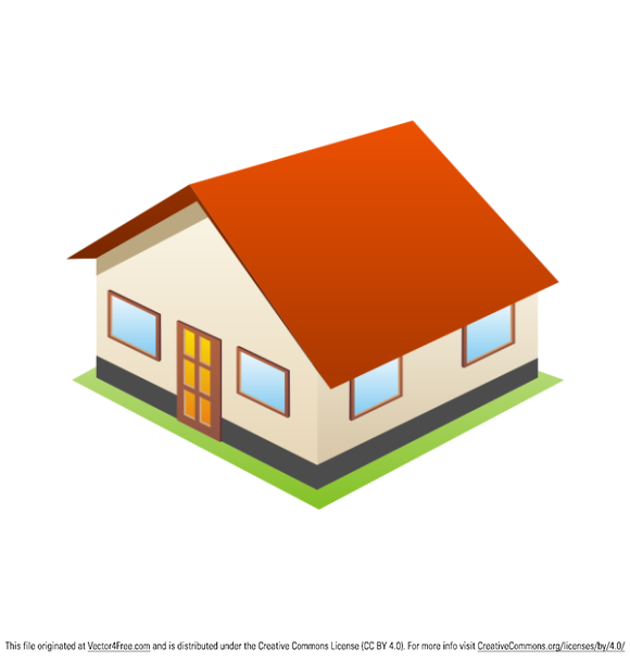 3d little house free vector icon - Free 3d House