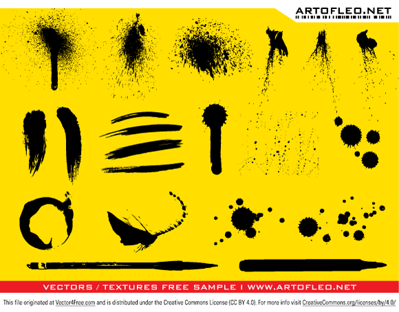 Vector Ink & Paint Splatters. Enjoy!!  Illustrator EPS format. It would be nice credit authors site with a link, if you use this vector.