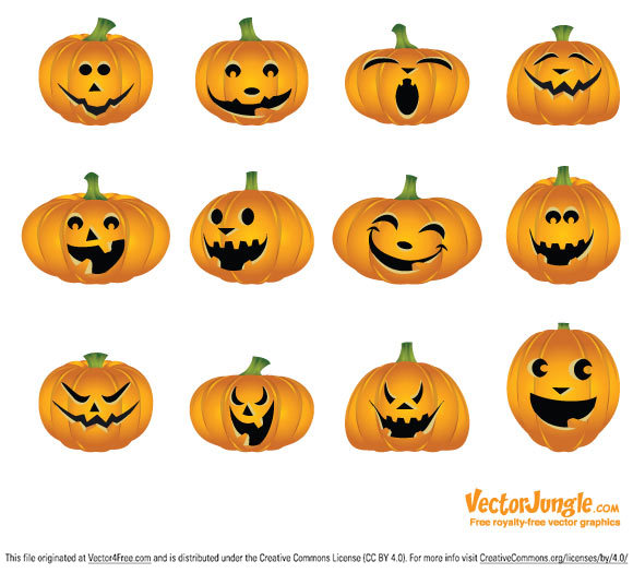 Great pumpkins in the EPS and PDF file free to use.