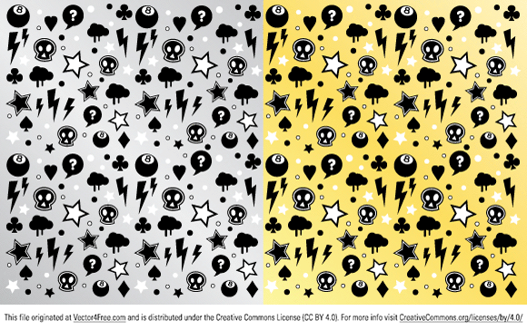 Trendy seamless pattern. Great for skateboard or T-shirt designs.