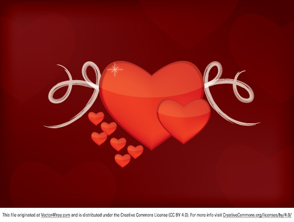 free vectors graphics - Valentine Hearts