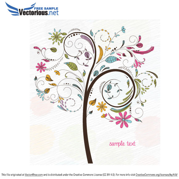 Download now this cool vector now! It contains a very detailed colorful vector tree!