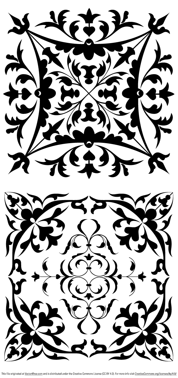 free vectors graphics - Floral Ornaments