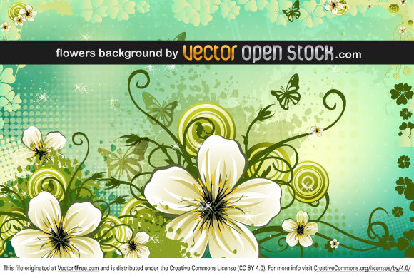 Spring flowers background in the vector file.
