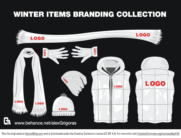 The best winter items branding collection!