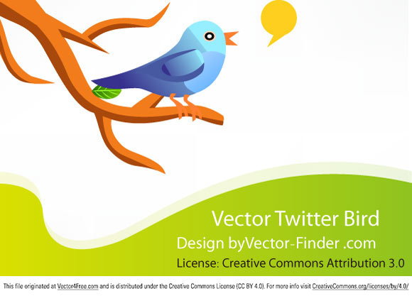 Free Vector Twitter Bird in the EPS format.