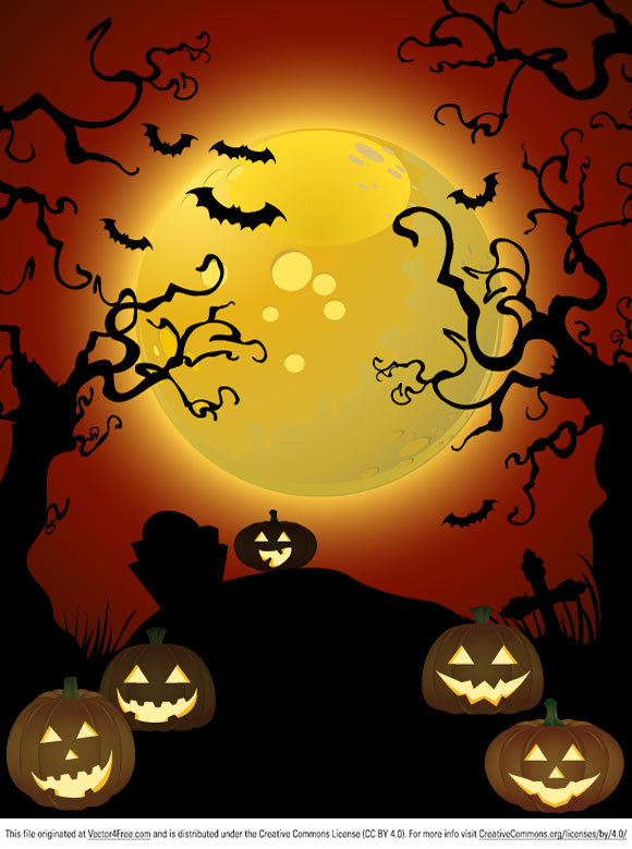 How about another Halloween vector for your projects? Check out this spooky scene!