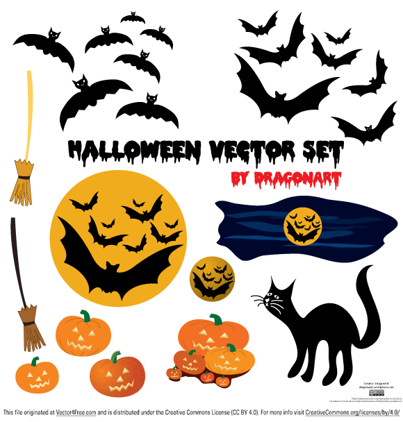 Creapy bats, laughing pumpkins, a frightning cat and a broom without a witch… all for halloween.