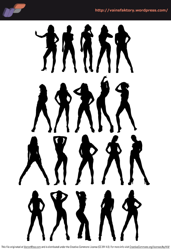Great pack of 20 sexy silhouettes.