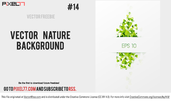 Today we bring you a really beautiful vector nature background with fresh, green leaves. Enjoy!