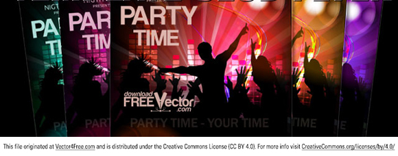 Vector template for club poster. Free for commercial used.  Link to  the author.