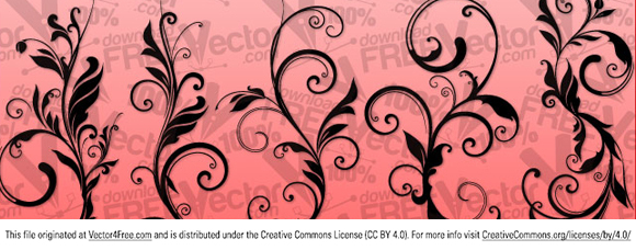 Vector design floral ornaments.  Free for commercial used.  Link to  the author.