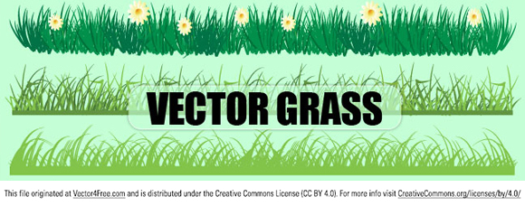 Set of free vector grass in color. Free for commercial used.  Link to  the author.