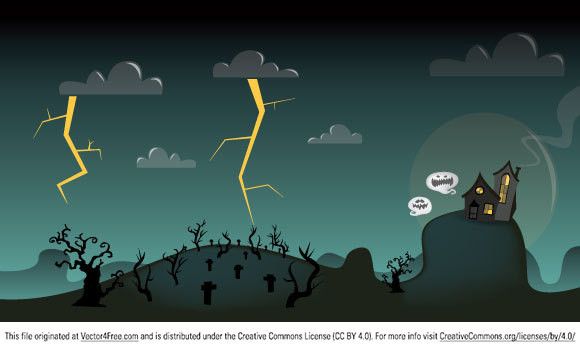 With this free Halloween vector you will be able to decorate your web site or realise any other spooky creative.