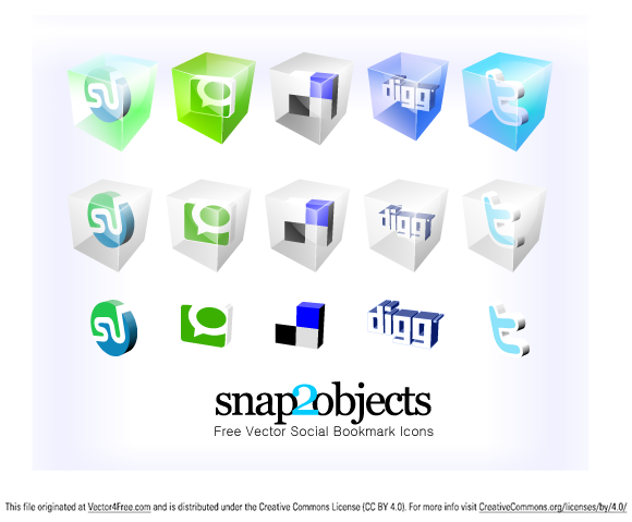 Social icons in adobe pdf vector format and PNG.
