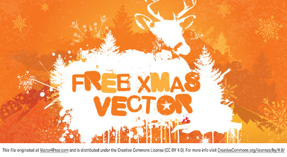 Here is a free grungy Christmas vector pack to download by Takashi Irie - takashiirie.com