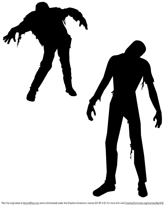Watch out for these free vector Zombies because they will eat your brains.