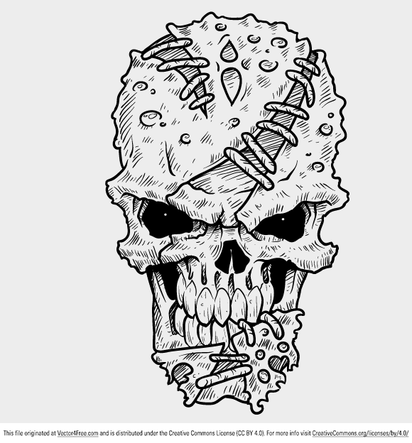 This week we have the most awesome freebie for you guys! It's a jaw dropping vector skull to die for! We also added something extra for you guys, a video with the process of creating this skull. We hope you'll enjoy watching this.