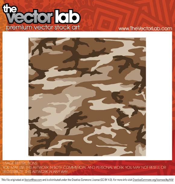 Camouflage Vector Seamless Pattern free to download.