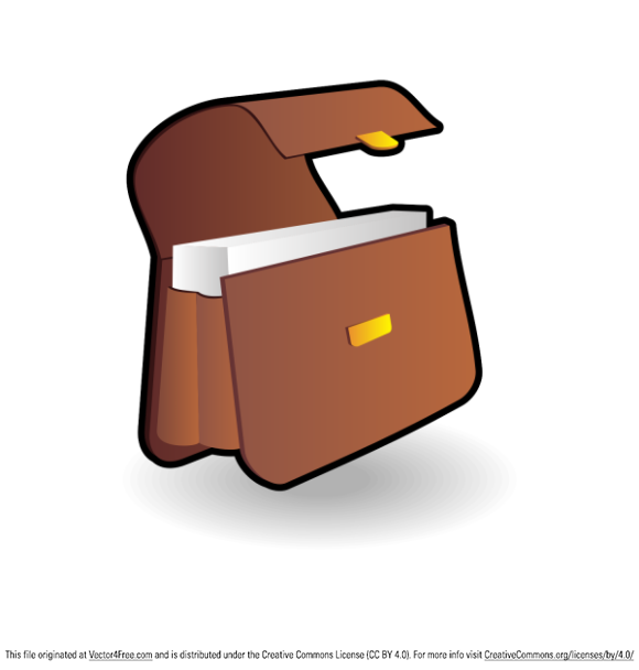 Briefcase icon. Free vector illustration