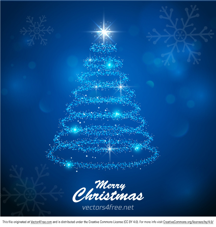 a colorful christmas tree from light vector background get it free use for your - Christmas Tree Blue