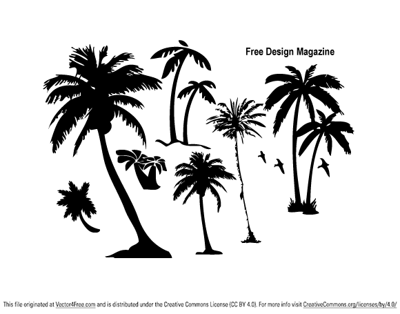 Palm Trees - Free Vector Art