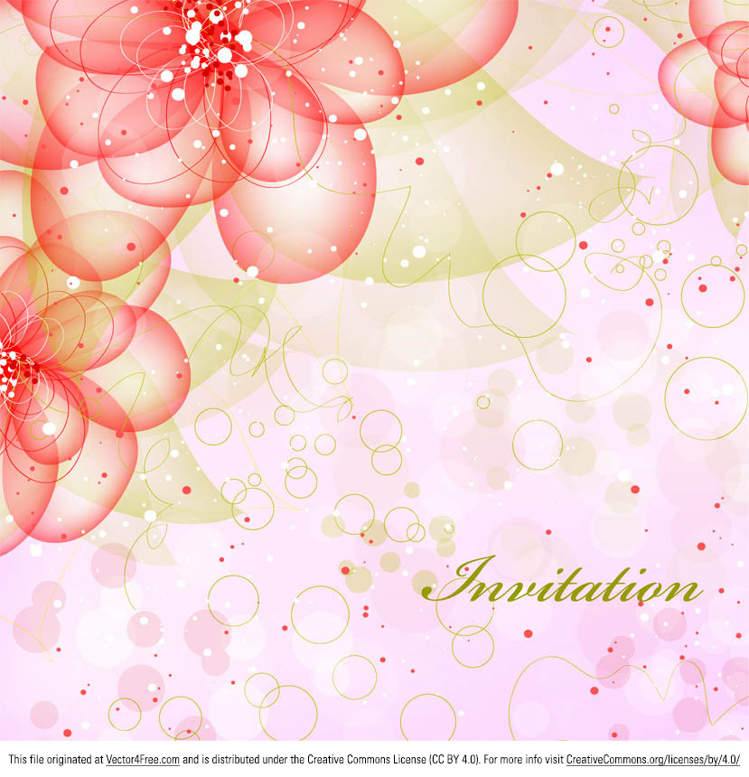 This new beautiful floral flower vector background was created in CS4, and comes in eps format. This floral vector background is available for personal use. Hope you enjoy this bright and beautiful floral vector background! Great for invitations, too.