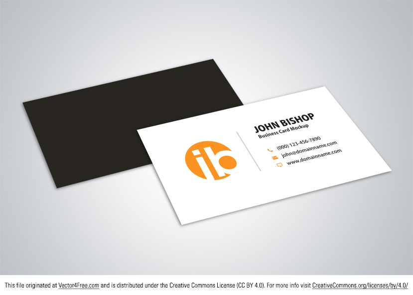 Free Business Card Vector Mockup