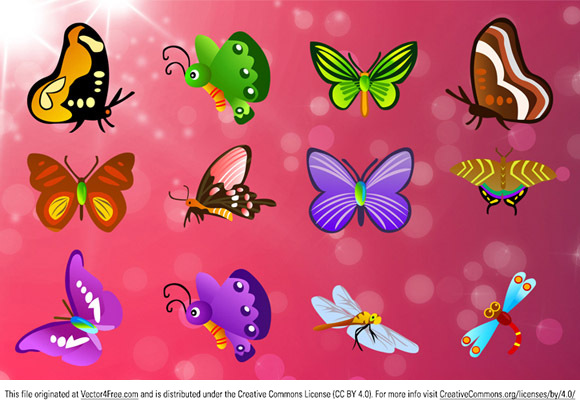 Including 13 different types Butterfly, 