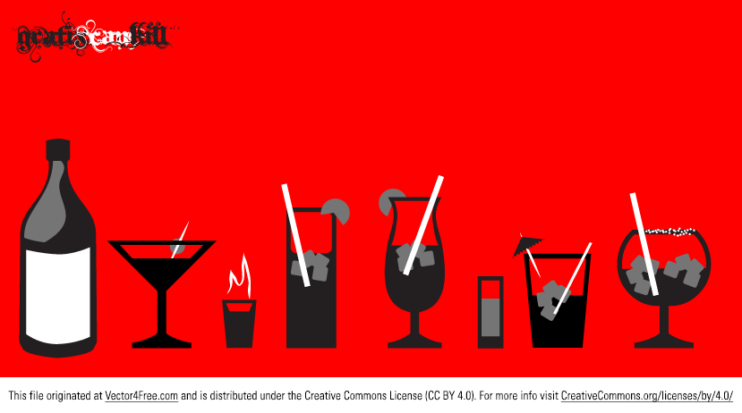 Take a break with this new Liquor Glass Vector Pack. Included in this pack are nine bottle and liqour glass vectors with separate ice and straws,  flame, lemon and umbrella too. Enjoy these liquor vectors, alcohol glasses, and beverage vectors.