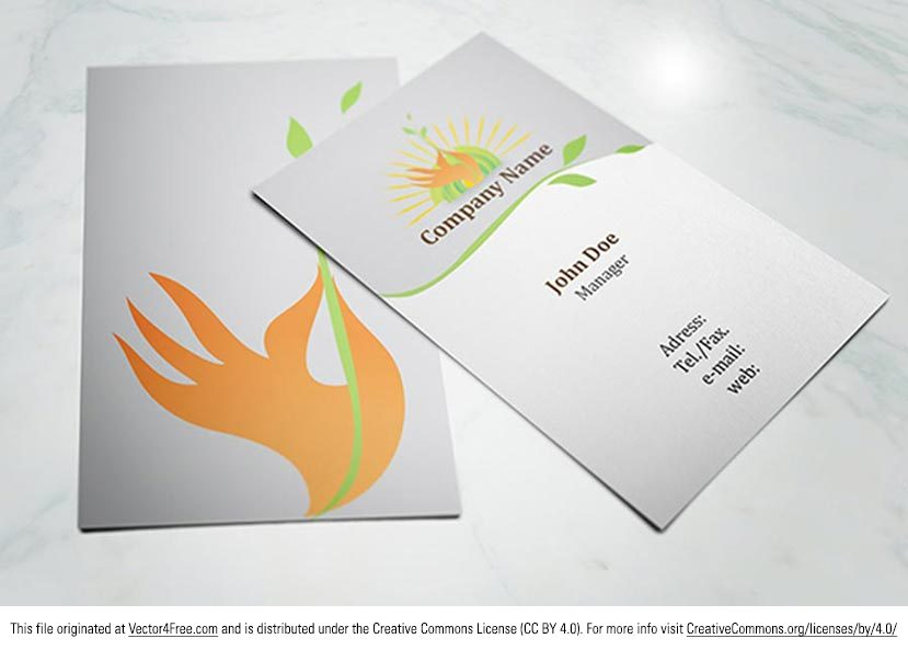 Eco Friendly Business Card Template - Free Vector Art