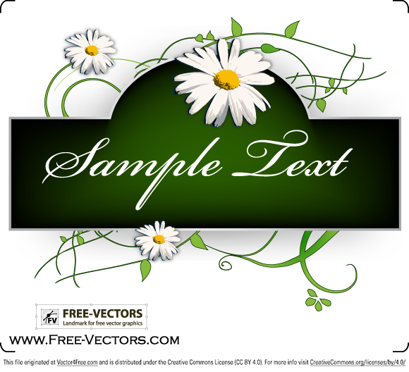 Flowers Banner Free Vector Graphics by www.Free-Vectors.com