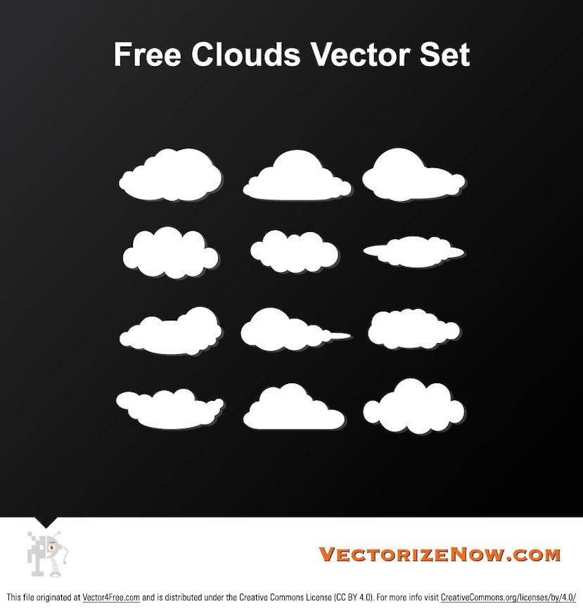 free cloud vector graphics rh vector4free com cloud vector png cloud vector image free
