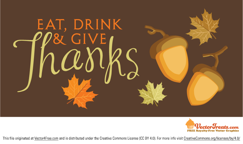 There are things to be thankful for all year round, and this new Free Thanksgiving Vector Background is one of them! This Thanksgiving vector background is filled with acorns, fall leaves, and a