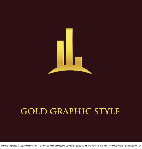 Check out this new gold graphic logo vector! This abstract logo vector would be perfect for so many projects and marketing graphics. This gold logo vector can be used in personal and commercial work, personal websites and printed work, as long as it's a part of a larger design.