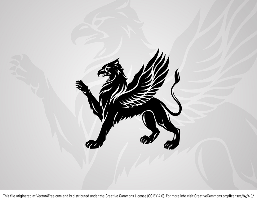 Here's a great new free vector griffin that you all can use in your work. This medieval griffin vector would work great for any project.