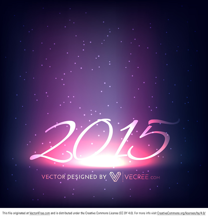 Here's a brand new 2015 Happy New Year's Vector that you can use in your holiday designs. 