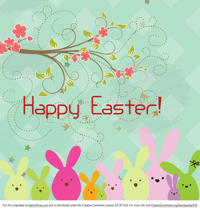 Today we're proud to present the new Happy Easter Background Vector! You can use this happy easter background vector in a multitude of projects. As a gift card or somewhere on your website, the new free happy easter background vector is the perfect choice! Get it today!