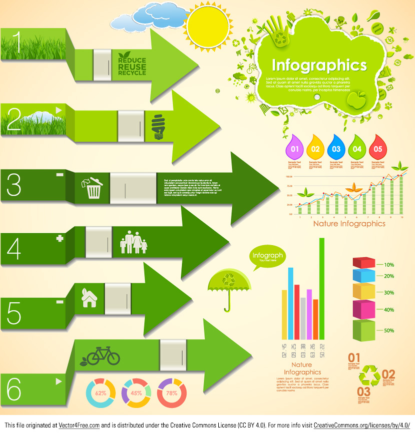 Get the new Nature Infographic Vector and don't waste your time! Benefit from all the elements that this nature infographic vector has to offer. Use the new and free nature infographic vector and your projects will be a breeze!