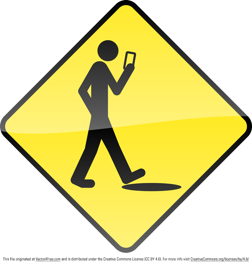 Welcome to the Dim-formation Age. This guy's about to experience a rush. A ground rush. Enjoy this new yellow stupid human construction type sign vector.