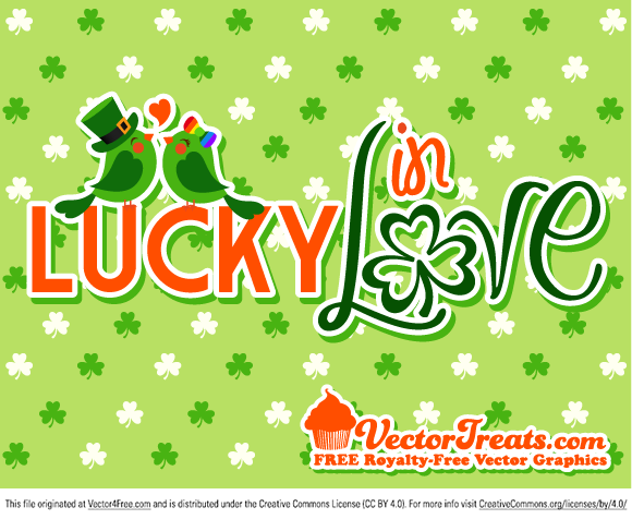 Feeling lucky in love for St. Patrick's Day? Then these graphics are a perfect way to show it.