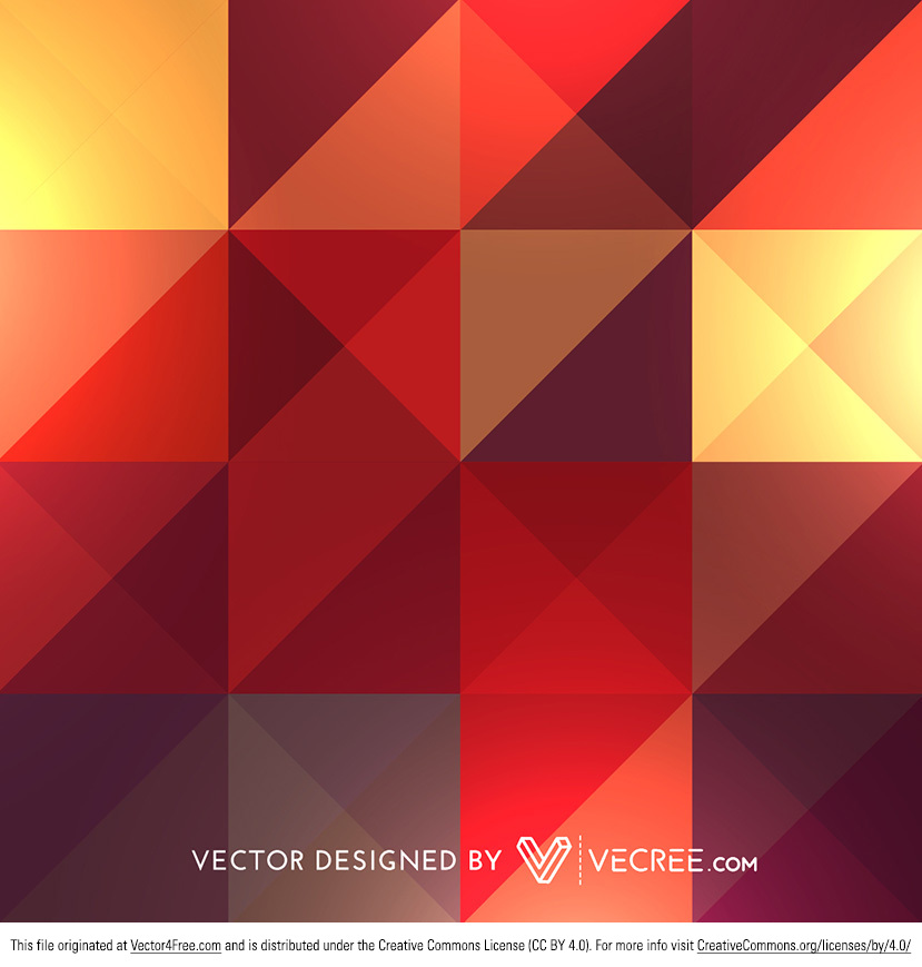 Retro style colorful triangle and diamond patterns design. Can be used in backgrounds, wallpapers, in advertising etc. Download high quality free vector graphics at vecree.com