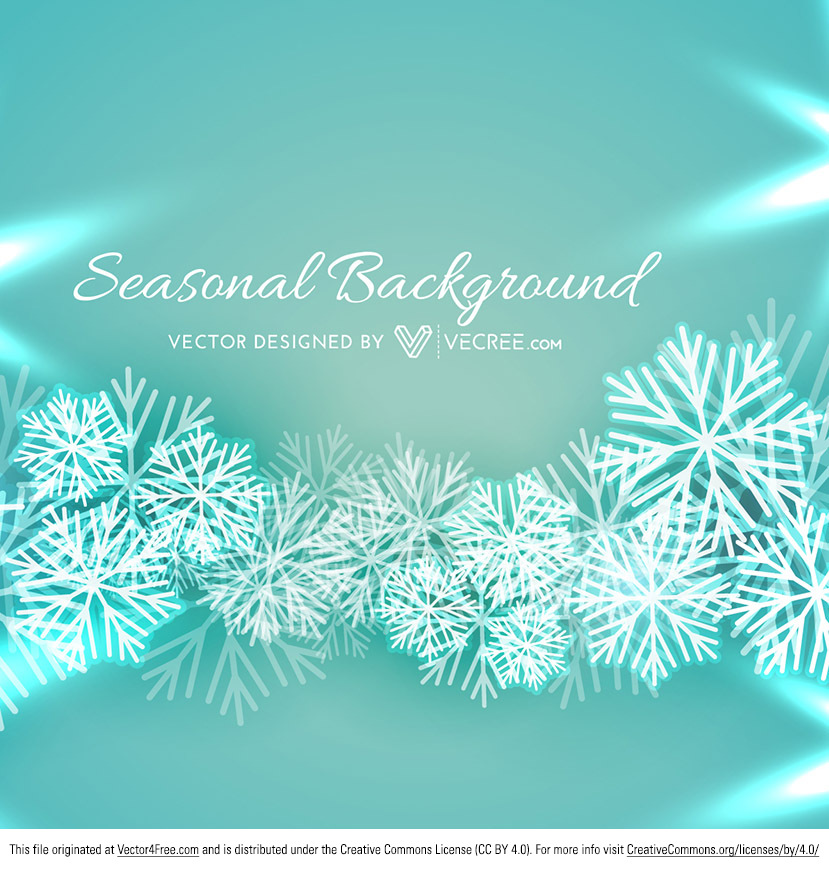 Christmas snowflake vectors on beautiful winter green background. Hope you can use this Beautiful Christmas SnowFlakes Vector Background!