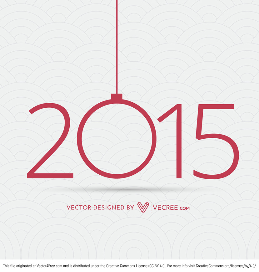 Free Happy New Year 2015 Vector