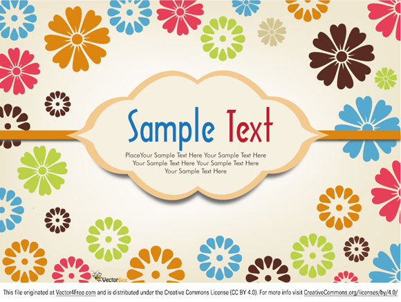 Simple Vector Flower Background