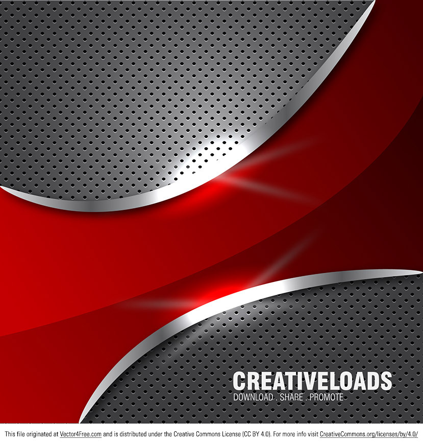 Needing a new metal vector background? I made this new abstract metal background with red design elements and glowing edges. Free to download!