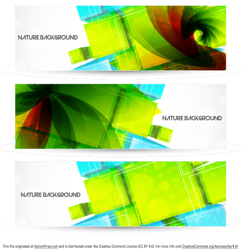 Nature and technology beautifully intertwine in this Abstract Nature Background Banner Vector Pack! Of course, the main colors of this abstract nature background banner vector pack are green and blue, but it also has some drops or red. Get the abstract nature background banner vector pack and you'll love it's design!