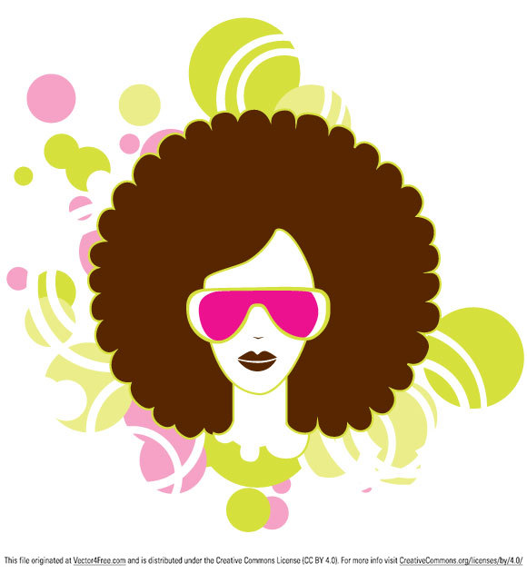 Afro and Soul simple vector graphic free to download. You can use this woman vector in your projects.